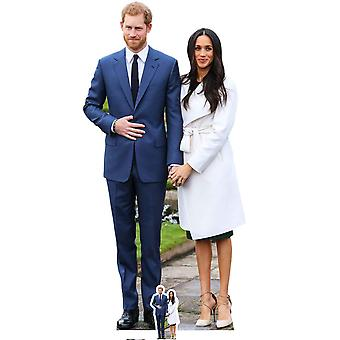 Prince Harry and Meghan Markle Engagement Style Cardboard Cutout / Standee / Standup