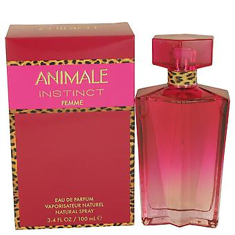 Instinto de animale Eau De Parfum Spray por Animale 3.4 oz Eau De Parfum Spray