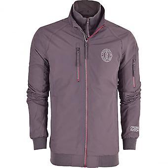 Crosshatch Mens Double Layer Zip Up Windbreaker Harrington Summer Jacket Coat Pockets