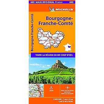 BOURGOGNE-FRANCHE-COMTE - France - Michelin Maxi Regional Map 602 - Ma