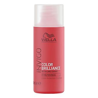 Shampoo Colour Reinforcement Invigo Color Brilliance Wella Travel size (50 Ml)