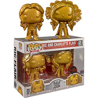 WWE Ric and Charlotte Flair Gold US Excl Pop! Vinyl 2-Pk