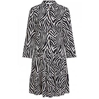 oui zebra print swing kjole