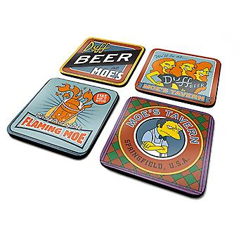 Simpsons Moes Tavern Coaster 4-Pack