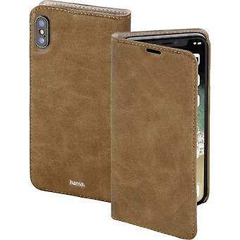 Hama Guard Case Booklet Apple iPhone XS Max Brown