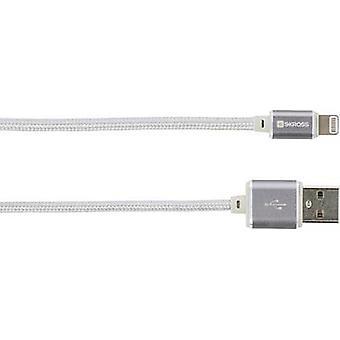 Skross iPod/iPhone/iPad Pro/iPad USB cable [1x USB - 1x Apple Dock lightning plug] 1.00 m Silver