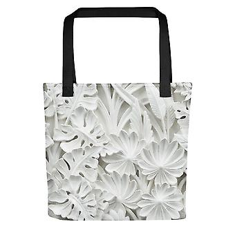 Tote Bag (Small) | White Leaves