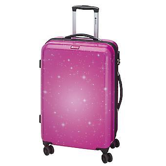 Controleren. IN Galaxy Dames Trolley M, 4 Wielen, 69 cm, 70 L, Roze