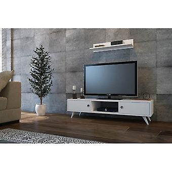 Mobile ASpen White Color TV Drzwi w melaminowym chipie, PVC 130x40x35 cm