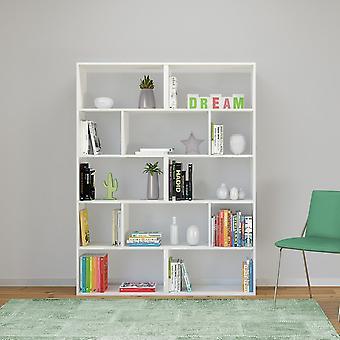 Libreria Scale Color Bianco in Truciolare Melaminico 124x28x161 cm