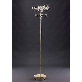 Octavia Floor Lamp 4 Bulbs Gold / Crystal