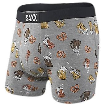 Saxx Underwear Co Vibe Beer Cheers Boxer Brief - Grey