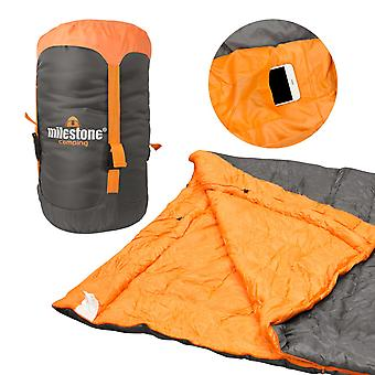 Milestone Envelope 3 Season Sleeping Bag Double Grey 210 x 170cm