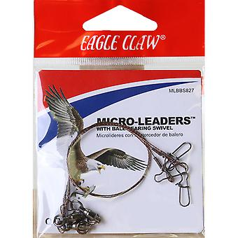 "Eagle Claw 8"" Wire Micro-Leaders with Ball Bearing Swivel 3-Pack"