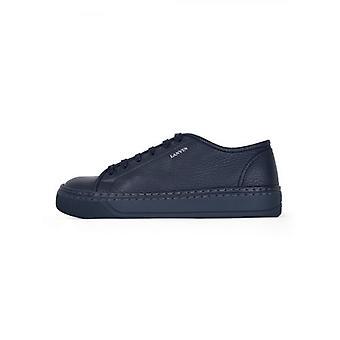 Lanvin Blue Grained Bull Calfskin Low Sneaker