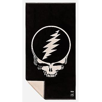 Slowtide Grateful Shred Beach Towel in Black