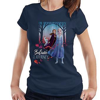 Disney Frozen II Anna Elsa & Olaf Believe In The Journey Women's T-Shirt