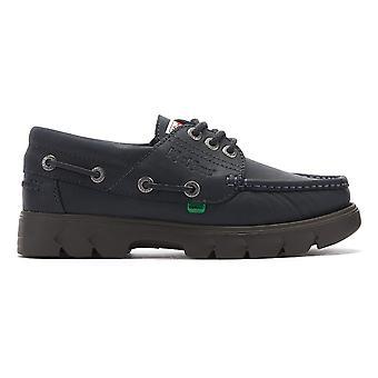 Sapatos de barco de couro da Marinha Dos Homens De Lennon