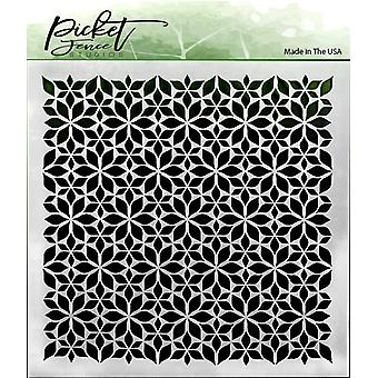 Picket Fence Studios Flowers Stencil