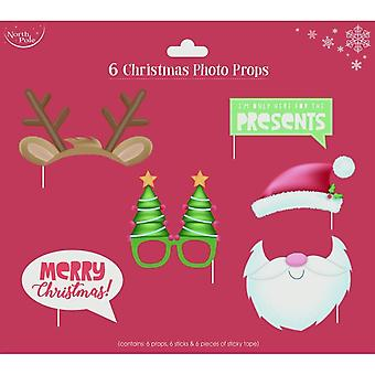 Eurowrap Christmas Photo Props (Pack Of 6)