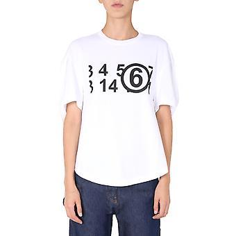 Mm6 Maison Margiela S62gd0071s23588100 Women's White Cotton T-shirt