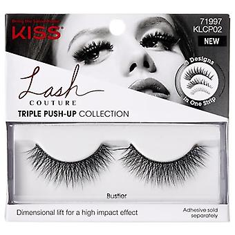 Kiss Lash Couture Triple Push-up Collection Reusable False Eyelashes - Bustier