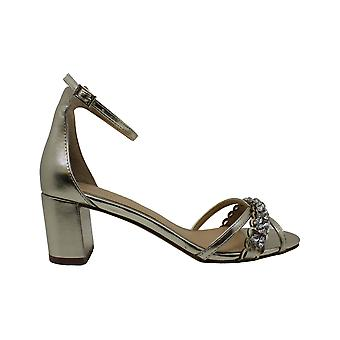 BADGLEY MISCHKA Womens Giona II Leather Open Toe Casual Ankle Strap Sandals