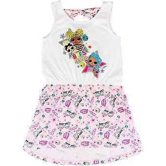 Dievčatá ET1310 LOL Prekvapenie Letné Bavlnené šaty bez rukávov