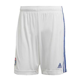 2020-2021 Olympique Lyon Adidas Home Shorts (White)