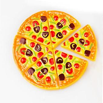 6pcss Kids Pizza- Slices Toppings Pretend Dinner Kitchen Play Food Kids (no