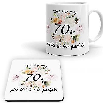 70 lat urodziny Kubek + Pakiet Coaster