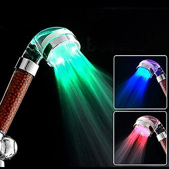 Hand Hold, Led Shower Head -water Saving And Temperature Control