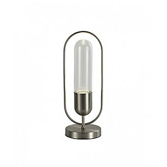 Bordslampa Anadia 1 Glödlampa Satin Nickel 19 Cm