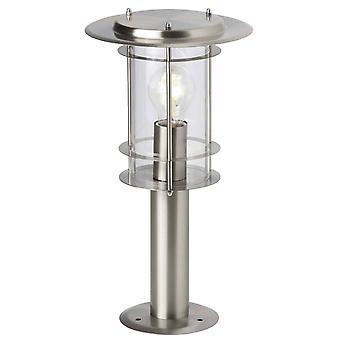 BRILLIANT Lampe York Außensockelleuchte 40cm edelstahl   1x A60, E27, 40W, geeignet für Normallampen (nicht enthalten)  