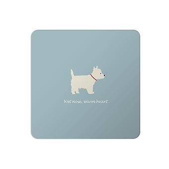 Bailey and Friends Dog Placemat Westie Blue