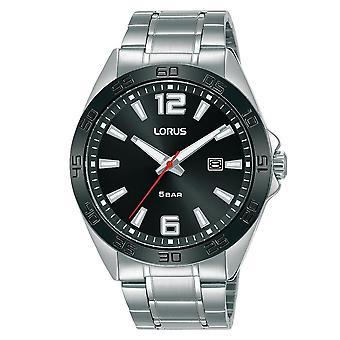 Reloj de correa de metal deportivo para hombres Lorus con caja de acabado cepillado y pulido RH911NX9