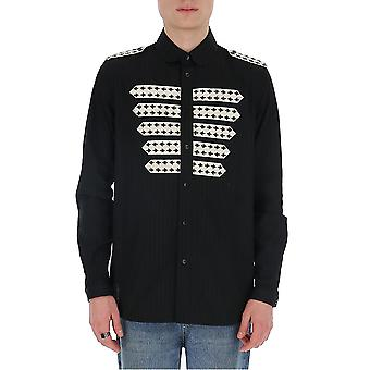 Saint Laurent 599691y1a471000 Men's Black Cotton Shirt