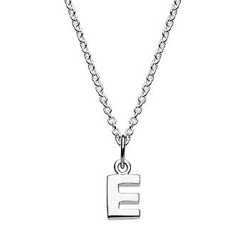 Dew Sterling Silver Dinky E Initial Pendant 9092HPE027