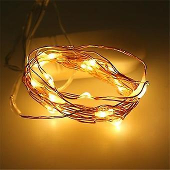 Bateria operada led fio fio corda luzes ao ar livre luz de garrafa impermeável para quarto