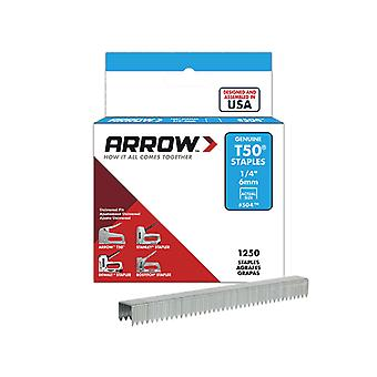 Arrow T50 Staples 6mm (1/4in) Box 1250 ARRT5014S