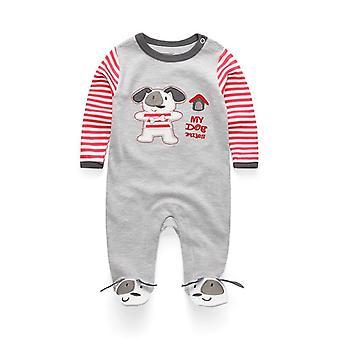 Nyfødte Babyer Nattøy, Langermet, Pyjamas Klær