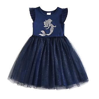 Vikita Girls Unicorn Tutu Dress Kids, Sequined Princess Vestido Girls Birthday