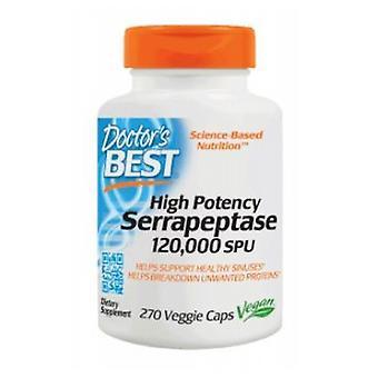 Doctors Best High Potency Serrapeptase, 120,000 Units, 270 Veggie Caps