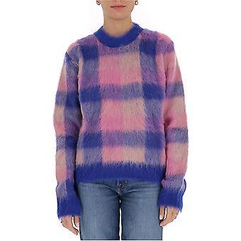 Acne Studios A60177bluepink Women's Pink Wool Sweater