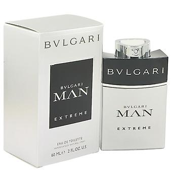 Bvlgari Man Extreme Eau De Toilette Spray por Bvlgari 2 oz Eau De Toilette Spray