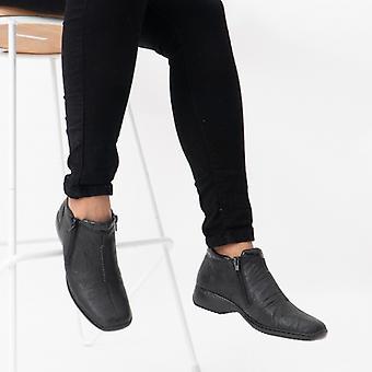 Rieker L3882-01 Hyvät Twin Zip Nilkka boot musta