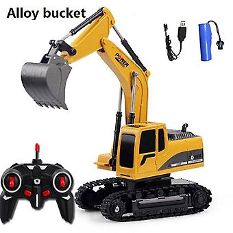 Gift Toys, Excavator Rc Car With 6 Channel - Rc Engineering Car ,kids Christmas