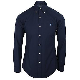 Ralph lauren men's navy poplin shirt