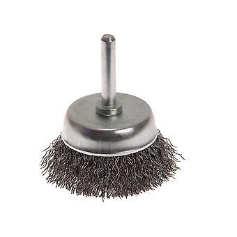 Faithfull Wire Cup Brush 50mm x 6mm Shank 0.30mm FAIWBS50