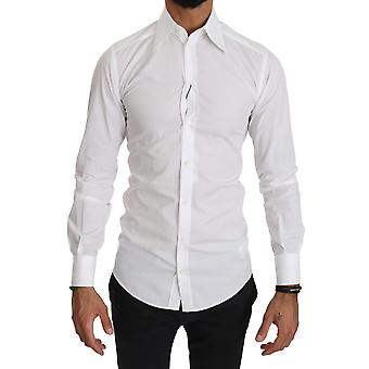 Dolce & Gabbana White Fitted Long Sleeve Shirt